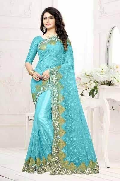 Tissu de mariage Lina- turquoise